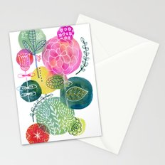 Blooming Circles Stationery Cards