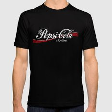 PEPSI IS BETTER G•DDAMMIT! Mens Fitted Tee SMALL Black