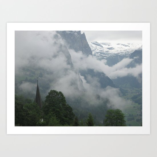 Falling Clouds 1 Art Print