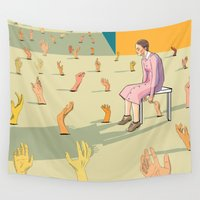 hands Wall Tapestries featuring Hands by Nahal