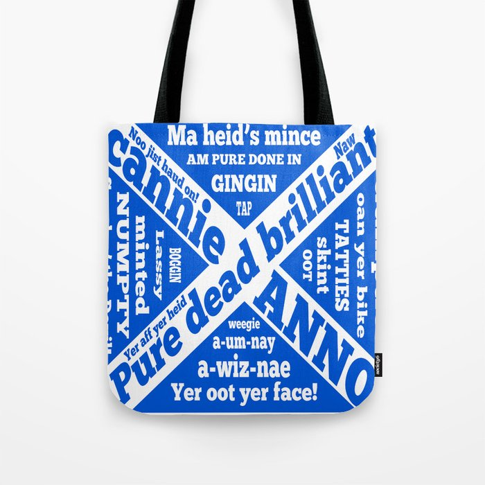 Scottish slang and phrases Tote Bag by mailboxdisco
