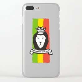 Rasta Lion Clear iPhone Case