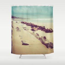 Blue Ocean Path Shower Curtain