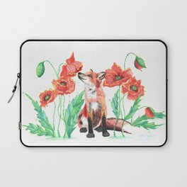 Pause & Smell the Poppies Laptop Sleeve