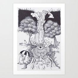 Bunny Falls Art Print