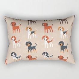 Coonhounds! Rectangular Pillow