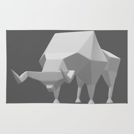 Low polygon style bull Rug