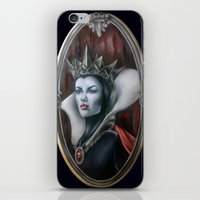 evil queen iPhone & iPod Skins featuring Evil Queen by Yehsiming Jue
