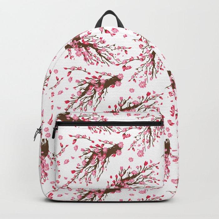 a415ed5af1b4 Cherry blossom Sakura Backpack by anukunhamala