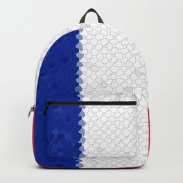 France Flag Mosaic Backpack