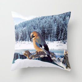 Winter Moments Throw Pillow