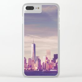 New York City Skyline Waterfront Clear iPhone Case