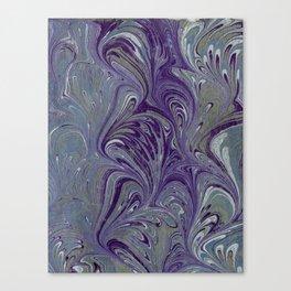Purple, Blue, & Green Marbled Canvas Print