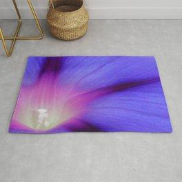 Macro of A Royal Purple Ipomoea Flower Rug