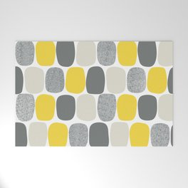 Wonky Ovals in Yellow Welcome Mat
