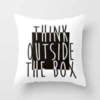 quote Throw Pillows featuring Quote by Motivational