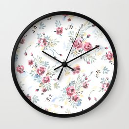 Heirloom Tea Rose Wall Clock