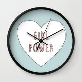 Girl power heart illustration - Girl Gang Prints Wall Clock