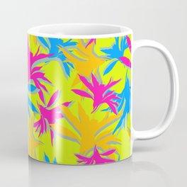 Modern boho flourescent vibrant bright colorful pattern design Coffee Mug