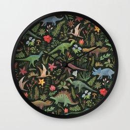 Dinosaur Jungle Wall Clock