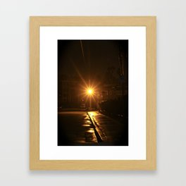 Light at Night Framed Art Print