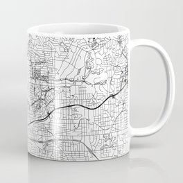 Atlanta White Map Coffee Mug