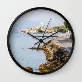 Lovely Malcesine town in Lake Garda, Italy Wall Clock