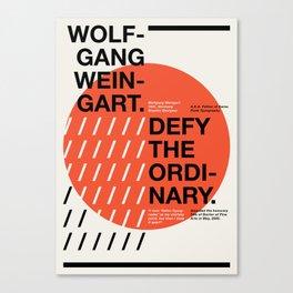 Wolfgang Weingart Canvas Print