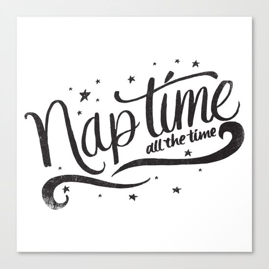 Nap time all the time Canvas Print