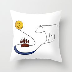 Hike the river Throw Pillow
