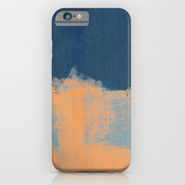 Summer Beach Abstract Orange Blue #painting #decor #society6 iPhone Case