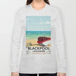 Blackpool, Lancashire, Rail poster Long Sleeve T-shirt