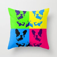doge Throw Pillows featuring doge by vidikay