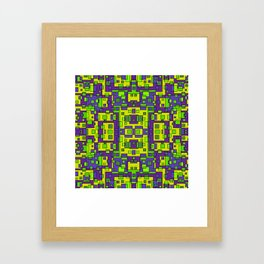 OVERLAP SQUARES  Framed Art Print
