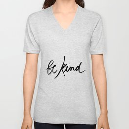 Be Kind | White Unisex V-Neck