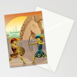 trojan war and troy horse Stationery Cards