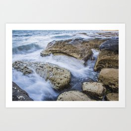 Silk Rock Art Print