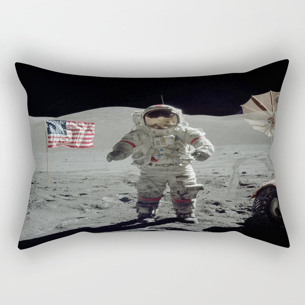 Apollo 17 - Last Man On The Moon Rectangular Pillow RPW7967173