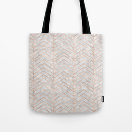 Marble With Zig Zag Tote Bag