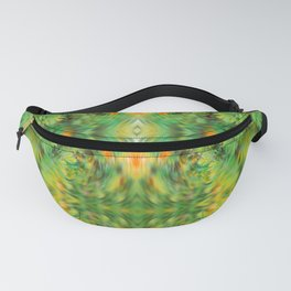 Psychedelic Green Leaves Fanny Pack