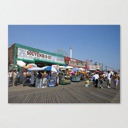 Coney Island Boardwalk Canvas Print