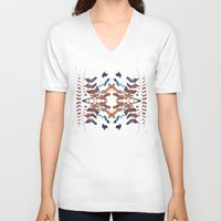 ethnic V-neck T-shirts featuring Ethnic by Rui Faria