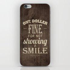 One Dollar Fine iPhone & iPod Skin