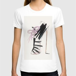 high heel T-shirt