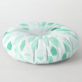 Watercolor brush strokes - aqua Floor Pillow