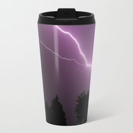 Purple Lightning Night Sky Travel Mug