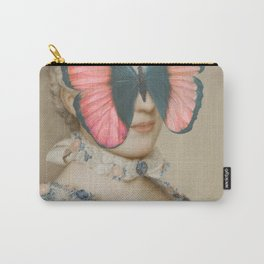 Portrait of a woman with a butterfly Carry-All Pouch