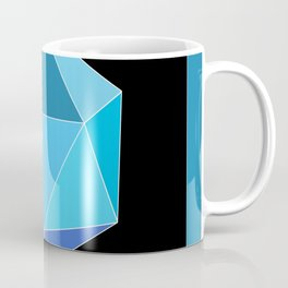 Blue Icosahedron. Coffee Mug