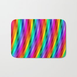 Psychedelic Rainbow Stripes  Bath Mat