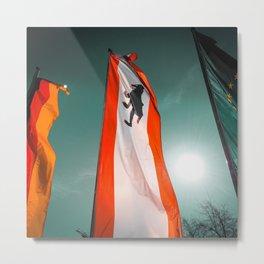 Berlin Flags Metal Print